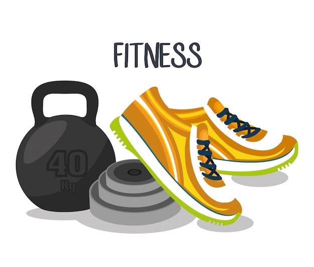 Ilustracja fitness sportowy