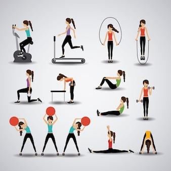 Ilustracja fitness