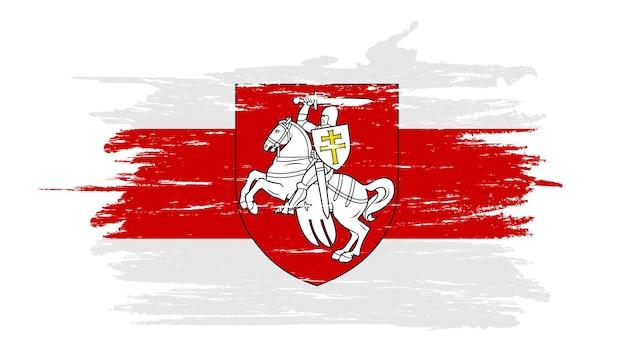 Ilustracja flaga białorusi.