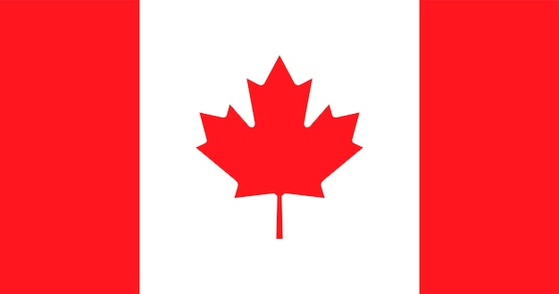 Ilustracja flaga kanady