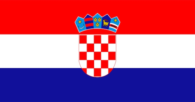 Ilustracja flagi chorwacji