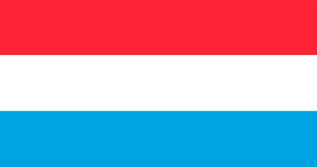 Ilustracja flagi luksemburga