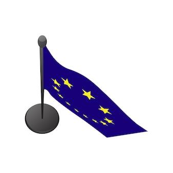 Ilustracja flagi unii europejskiej