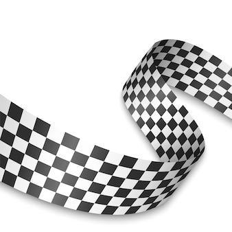 Ilustracja flagi z szachownicą