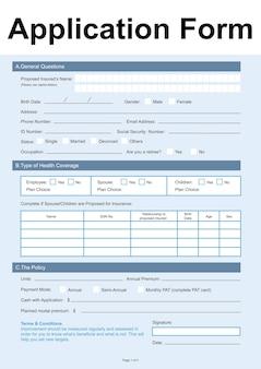 Ilustracja formularza wniosku
