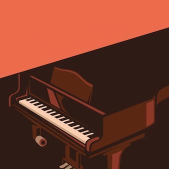 Ilustracja fortepianu