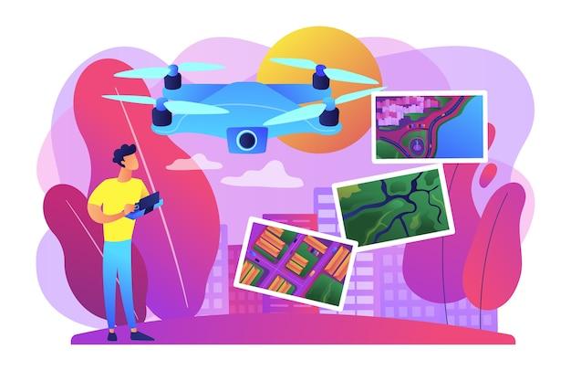 Ilustracja fotografii lotniczej