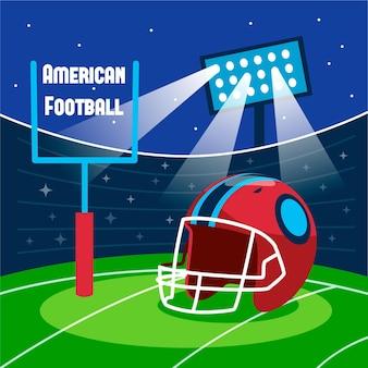 Ilustracja Futbolu Amerykańskiego Premium Wektorów