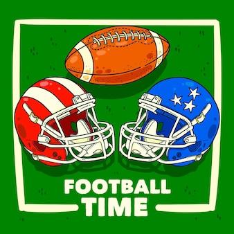 Ilustracja Futbolu Amerykańskiego Darmowych Wektorów