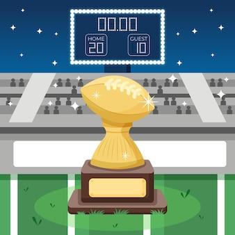 Ilustracja futbolu amerykańskiego