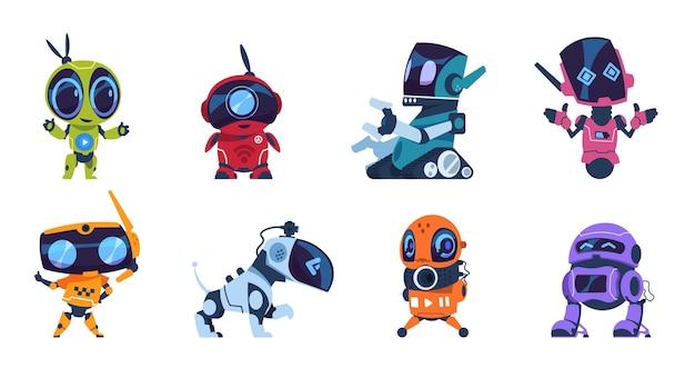 Ilustracja futurystycznych robotów