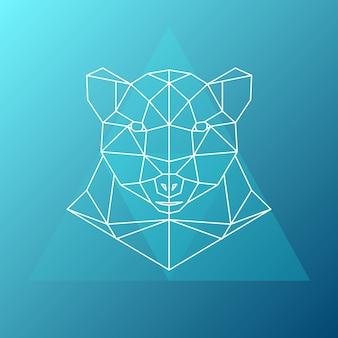 Ilustracja geometryczny niedźwiedź.