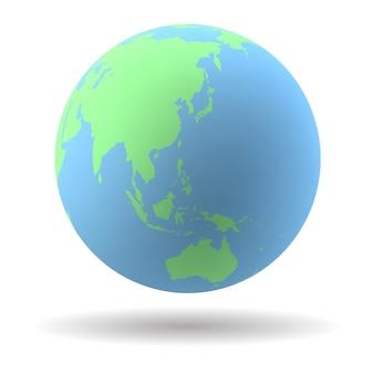 Ilustracja glob ziemi