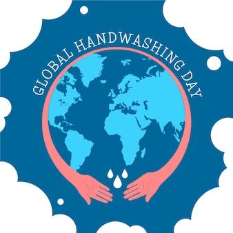 Ilustracja globalnego wydarzenia dnia mycia rąk
