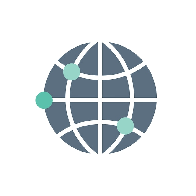 Ilustracja globalnej ikony