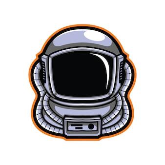 Ilustracja głowa astronauta