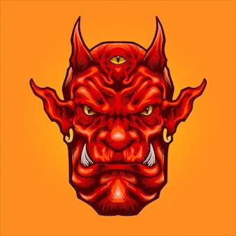 Ilustracja głowa demona