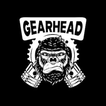Ilustracja głowa goryla