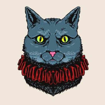 Ilustracja głowa kota