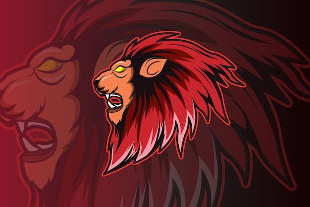 Ilustracja głowa lwa rysunek ręka