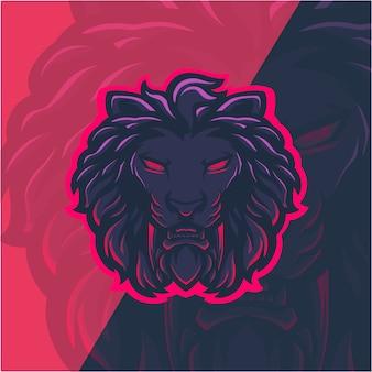 Ilustracja głowa lwa