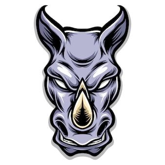 Ilustracja głowa nosorożca