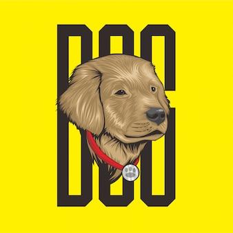 Ilustracja głowa psa