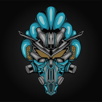 Ilustracja głowa robota