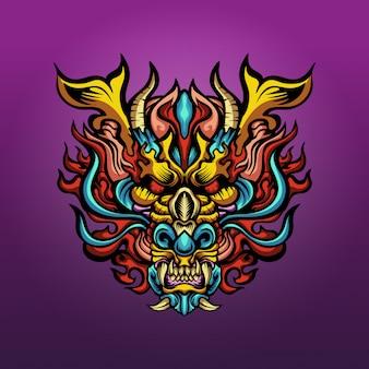 Ilustracja głowa smoka