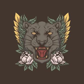 Ilustracja głowa tygrysa