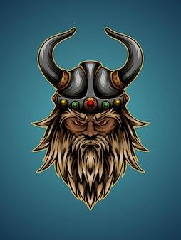 Ilustracja głowa wikinga