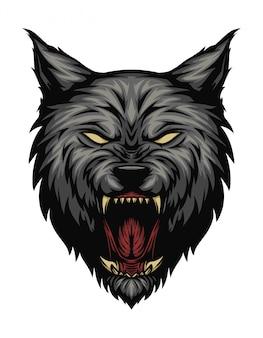 Ilustracja głowa wilka