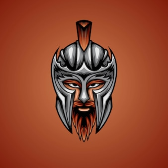 Ilustracja głowa wojownika