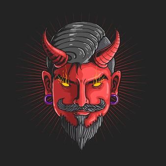 Ilustracja głowy diabła