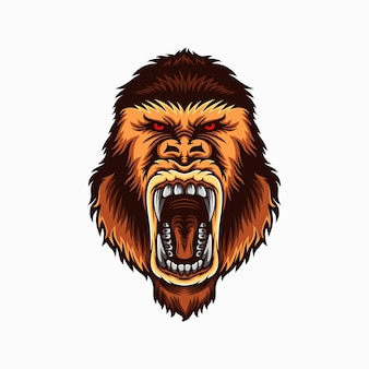 Ilustracja głowy goryla