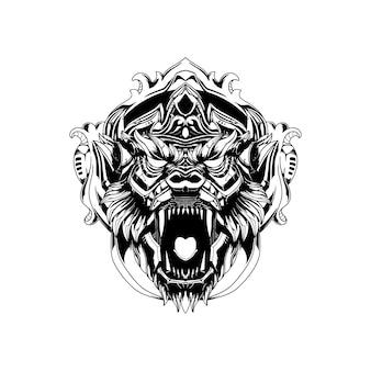 Ilustracja głowy hanoman