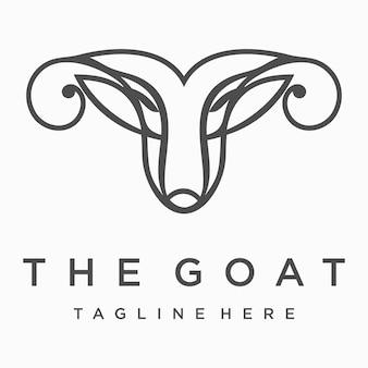 Ilustracja głowy kozy
