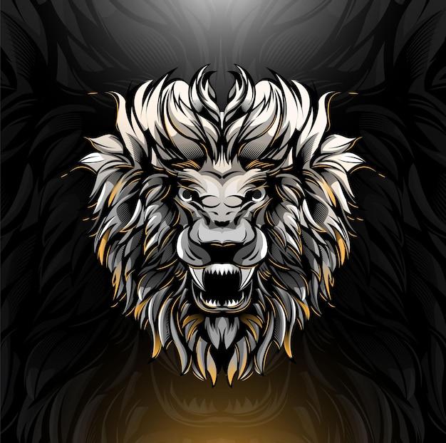 Ilustracja głowy lwa