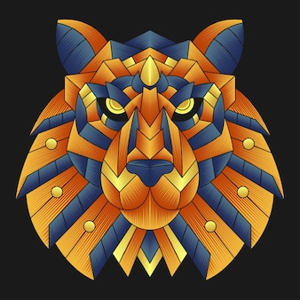 Ilustracja głowy tygrysa