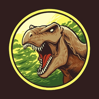 Ilustracja głowy tyranozaura rexa