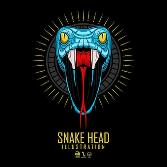 Ilustracja głowy węża