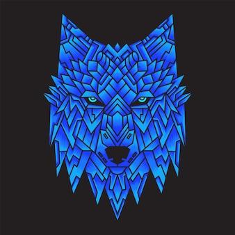 Ilustracja głowy wilka