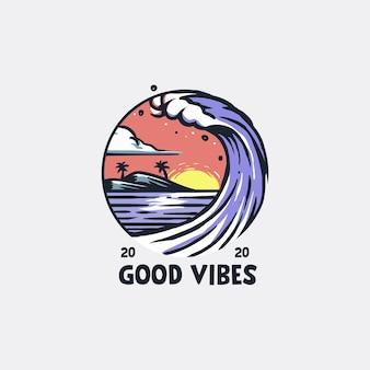 Ilustracja good vibes