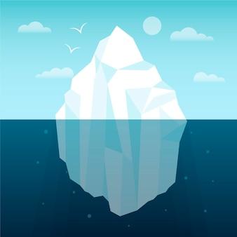 Ilustracja góry lodowej