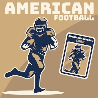 Ilustracja gracza futbolu amerykańskiego