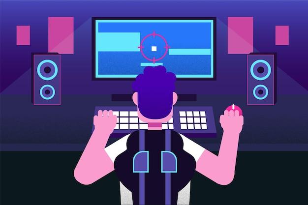Ilustracja gracza gry wideo