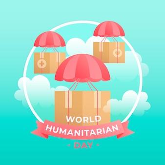 Ilustracja gradientowego światowego dnia humanitarnego