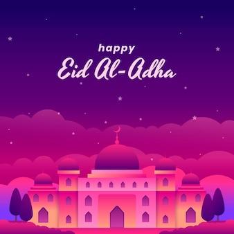 Ilustracja gradientu eid al-adha