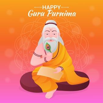 Ilustracja gradientu guru purnima
