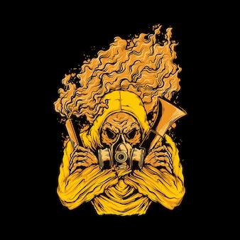 Ilustracja graficzna flary kibica ultras